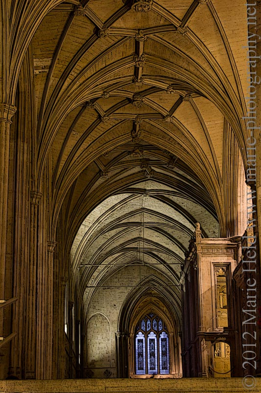 Aisle in Winchester cathedral