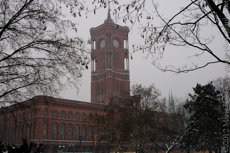 'Red Townhall' of Berlin. It was once the used as the townhall and gets its name from the red brick facade.