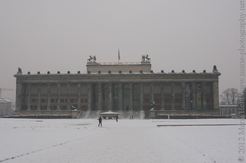 'Old Museum' with the snow-covered Lustgarten in the foreground.