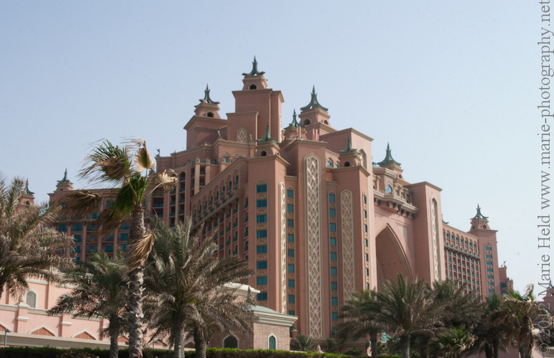 Atlantis hotel on one of the artificial Palm islands.