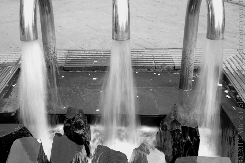 Detail of fountain recorded at Arndale Market Centre.
