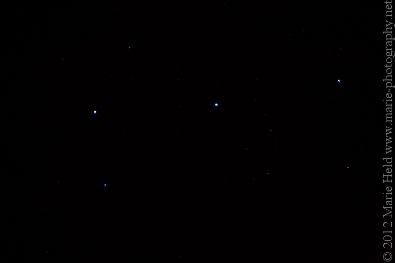 Close-up of Orion's belt.